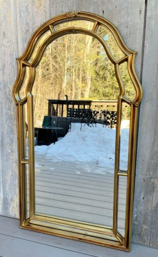 "Vintage La Barge Italian Large 43.5"" Gold Giltwood Ornate Arch Mirror c. 1960"
