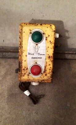 Vintage Farm Crest Weed Demon Electric Fence Controller