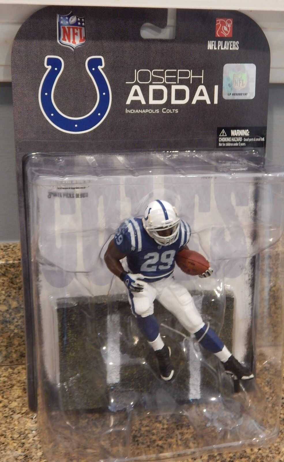 NEW 2008 McFarlane NFL Joseph Addai #29 Indianapolis Colts Series 17 Figure