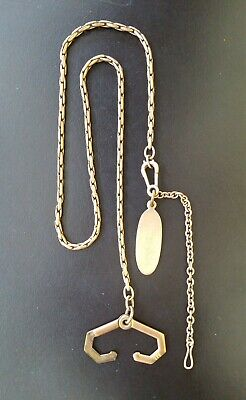 Antique Albert FOB Pocket Watch Chain with engrave-able owner's FOB