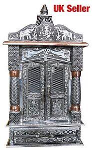 "Oxidised Copper Puja Pooja Mandir Hindu Temple 10""W X 6""D X 23""H_UK Seller"