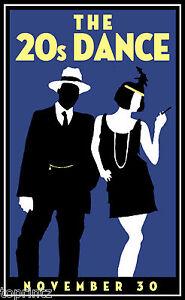 Gatsby Vintage Art print Deco 1920's
