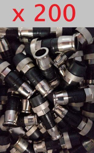 Lot 200 Ppc Ex59xlws Belden Rg59 Coax Compression Connector Fitting Seals Ex59ws