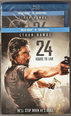 24 Hours To Live Blu Ray   Digital Ethan Hawke Brand New With Slip Cover