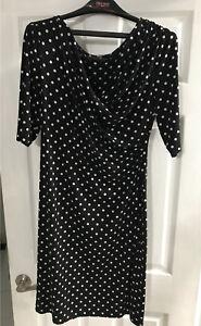 Black white polka dot women's dress