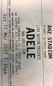 Adele Concert Tickets Pyrmont Inner Sydney Preview