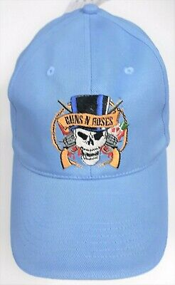 Guns N' Roses Unisex Baseball Cap Hat - Light Blue - One Size - New
