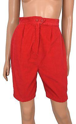 Vintage 50s Sally Togs RED CORDUROY Walking Shorts 16 wale Cotton Bermuda sz S