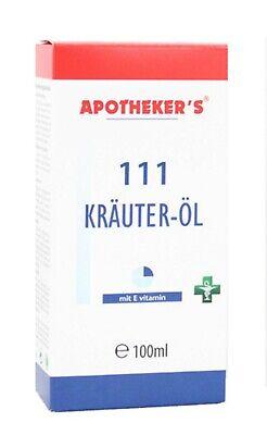 APOTHEKER'S 111 Kräuter - Öl 100 ml NEU