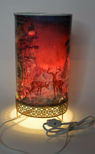 Vintage LA Goodman Mfg. Co 1956 Forest Fire Motion Lamp