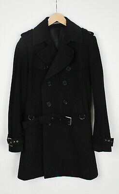 TIGER OF SWEDEN WOODY Men (EU) 52 or ~L Double Breasted Wool Blend Coat 36453_G