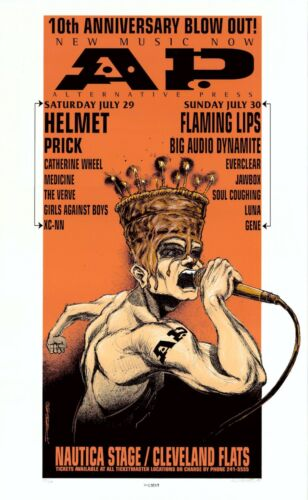 MINT & SIGNED Flaming Lips Everclear 1995 Cleveland Hess Poster 331/450