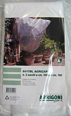 3PC Capucha Protectora X Plantas Flores Tnt ø100 cm X H 160 cm Blanco 3 Sacos comprar usado  Enviando para Brazil