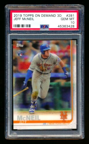 PETER ALONSOPETE and JEFF MCNEIL 2 CARD BOWMAN ROOKIE LOT GRADED GEM MINT 10 METS ROOKIE STARS ROY?