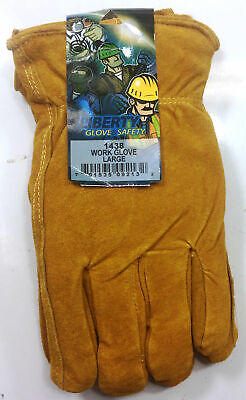 Insulated Leather Work Gloves Liberty Size Large 1 Pair