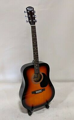 Johnson JG-555-SN Dreadnought Acoustic Guitar, Sunburst Johnson Acoustic Guitar