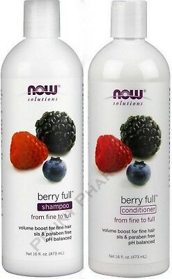 Berry Full Conditioner - NOW Shampoo & Conditioner Combo BERRY FULL VOLUME ( 16oz each )