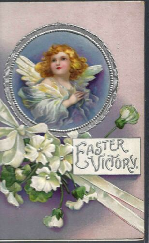 Victorian EASTER VICTORY Booklet-CHROMO Color Illustrations-POETRY