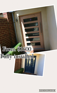 Timber pivot entry door conversions.