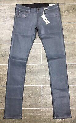 Diesel Jeans Livier RU807 Livier Super Slim Stretch Jegging Low Black Coated NWT (Diesel Low Rise Jeans)