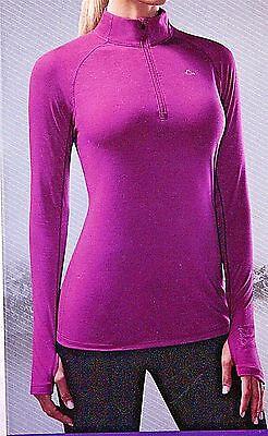 Nwt  Womens Paradox Top Base Layer Merino Wool Blend 1 4 Zip L S Top Shirt