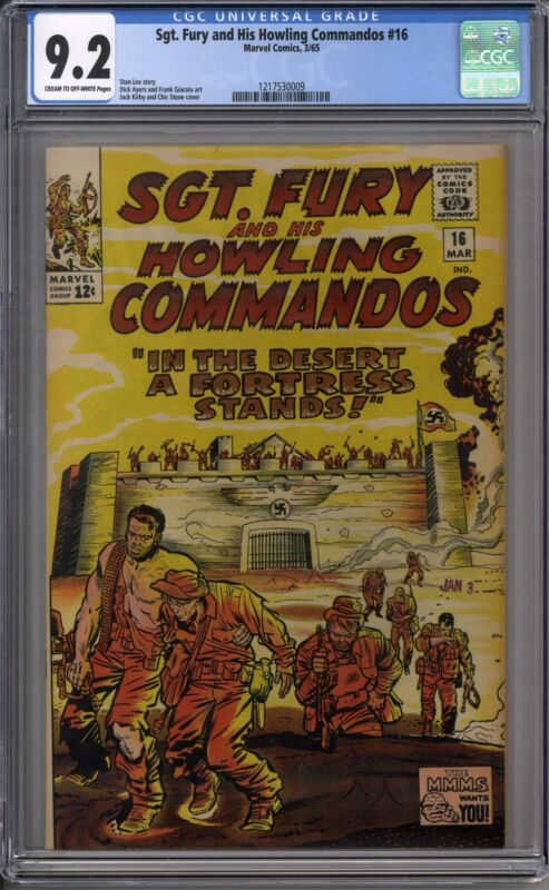 Sgt. Fury and his Howling Commandos #16 CGC 9.2 (C-OW)