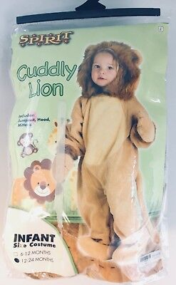 Spirt Costume (Brand New SPIRT Cuddly Lion Halloween Costume Infant 12-24)