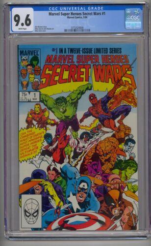 MARVEL SUPER HEROES SECRET WARS #1 CGC 9.6 WHITE PAGES