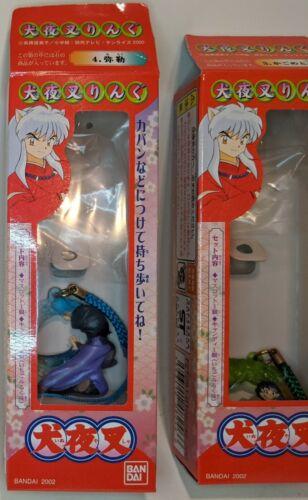 Rare Inuyasha Kagome Miroku Figure Mascot Charm Phone Strap Official Japan