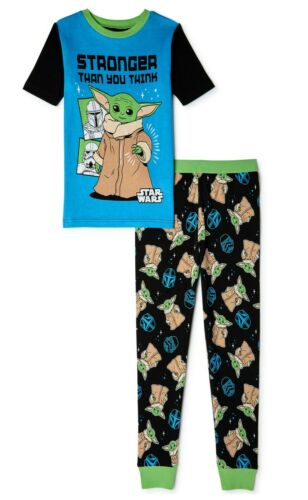 Baby Yoda Pajamas Size 4 6 8 10 Boys Mandalorian Star Wars 100% Cotton Girls NEW