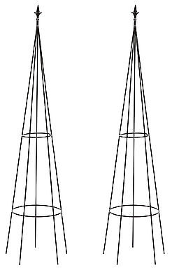 Set of 2 x 168cm Tom Chambers Powis Garden Obelisks - Climbing Plant Supports