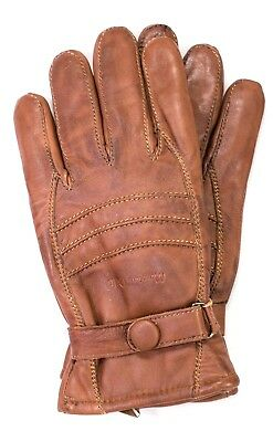 Riparo Mens Genuine Leather Winter Gloves With Fleece Lining