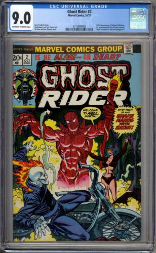 Ghost Rider 2 CGC Graded 9.0 VF/NM 1st Hellstrom Marvel Comics 1973