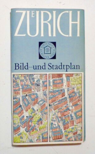 ZURICH 1963 Axonometric 3-D Map HERMANN BOLLMANN Swiss Cartography SCARCE FINE