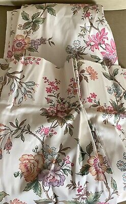 Curtains professional vintage Dorma fabric weighted lined L35.5 in