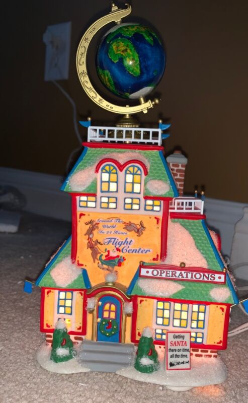 """DEPARTMENT 56 NORTH POLE SERIES """"AROUND THE WORLD IN 24 HOURS FLIGHT CENTER"""""""