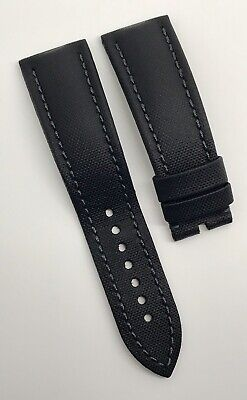Authentic Blancpain Fifty Fathoms Black Sailcloth 23mm x 20mm Strap Band OEM
