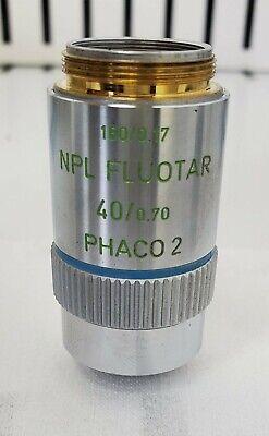 Leitz Microscope Objective Npl Fluotar Phaco 2 40x0.70 1600.17 - Free Shipping