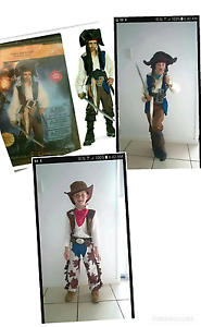 Jack sparrow deluxe pirate costume and cowboy costume Narangba Caboolture Area Preview