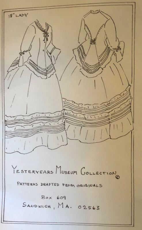 "18""ANTIQUE FRENCH FASHION LADY DOLL ROHMER HURET  DRESS UNDRWEAR PATTERN"