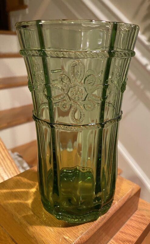 """Juliska Glassware COLETTE GREEN  6"""" 16 oz Highball Tumbler(s)   NEAR MINT!!!"""