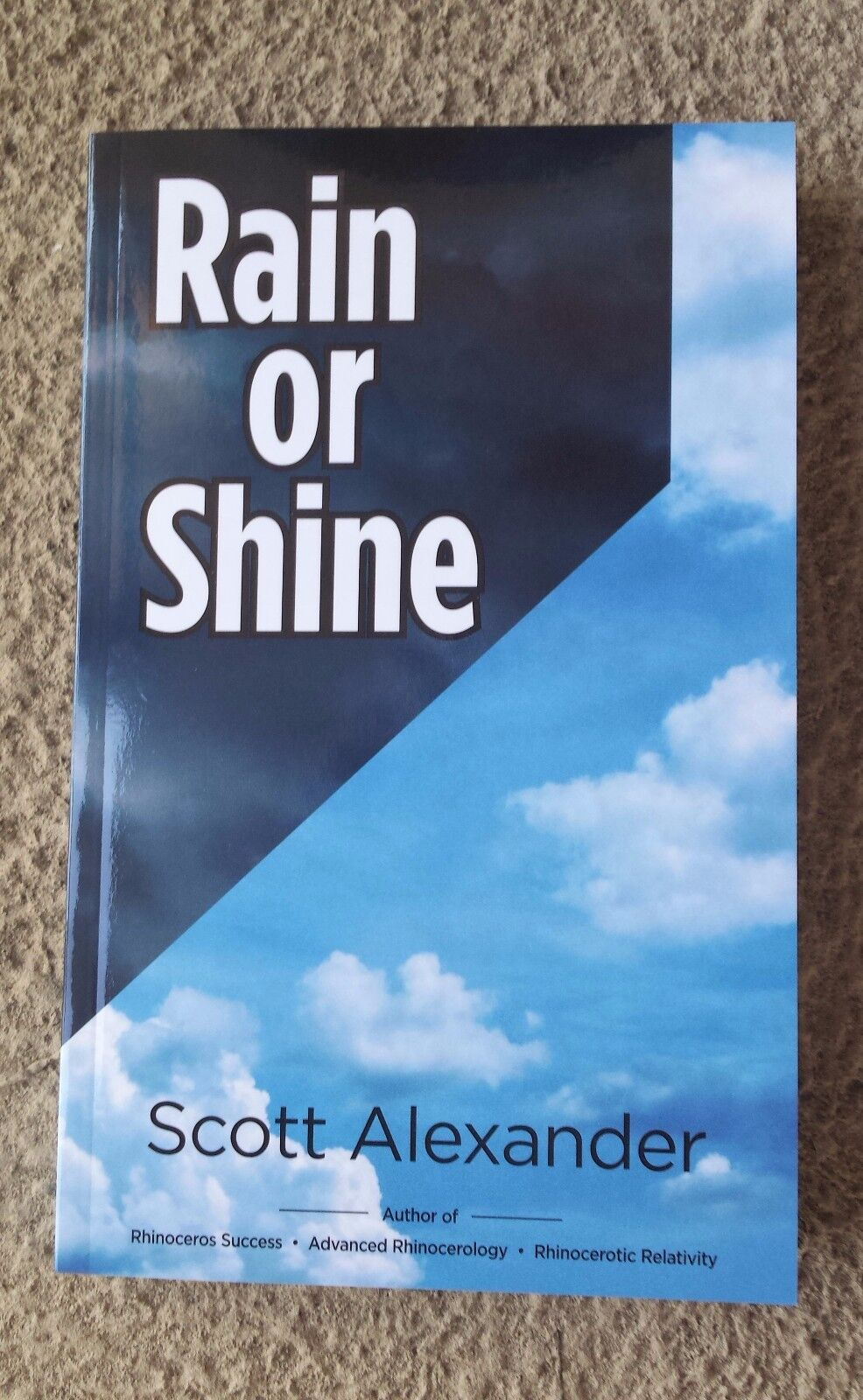 Rain Or Shine By Author Of Rhinoceros Success, Scott Alexander. New! Autographed