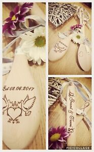 Good Luck Wedding Token Lucky wooden spoon Keepsake personalized.  Any name