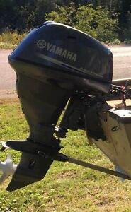 2010 Yamaha short shaft electric start 25hp four stroke outboard