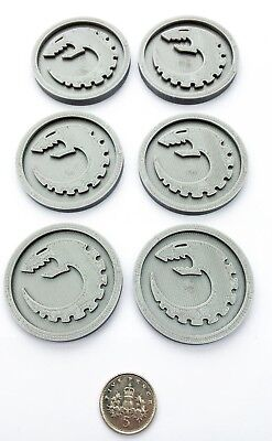 x6 Round Objective Markers Blank Tyranid Fantasy Gaming Wargames Stocking Filler