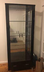 Black Gloss Display Cabinet