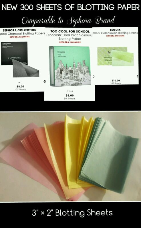 NEW 300 Sheets -  Blotting Paper Comparable to Sephora * NO RESERVE *