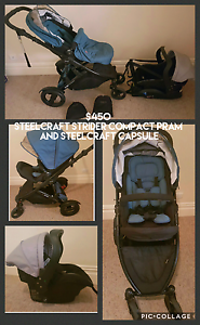 Steelcraft strider compact pram and steelcraft capsule Port Pirie Port Pirie City Preview