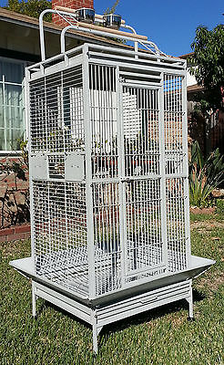 Large Bird Parrot PlayTop Cage Cockatiel Macaw Conure Aviary Pet Supply Finch584