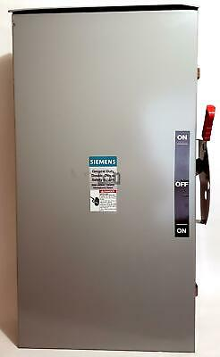 Siemens Double Throw Safety Switch 240vac 200a 3r Rainproof Dtgnf224nr
